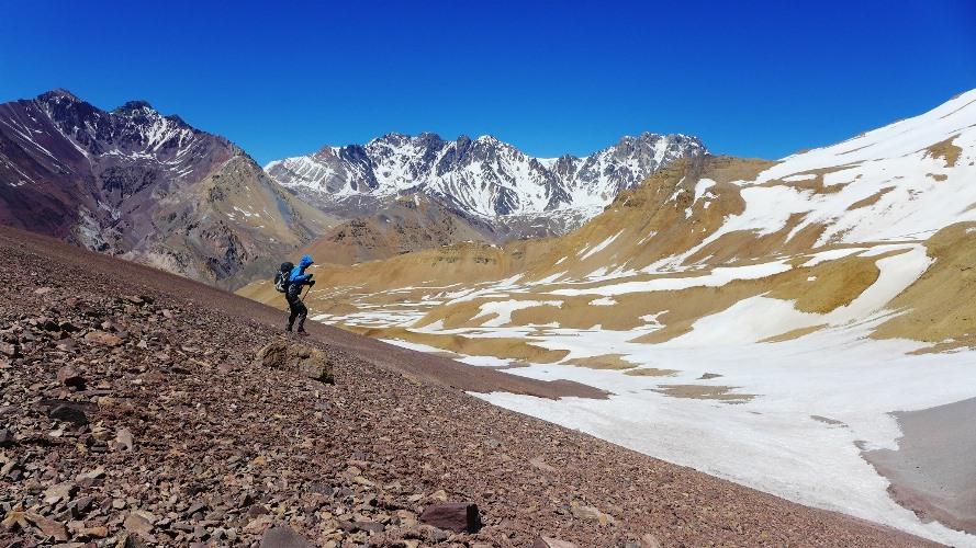 Vue sur les montagnes colorées